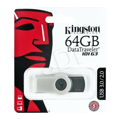 Kingston Flashdrive DataTraveler 101 G3 64GB USB 3.0 Czarny