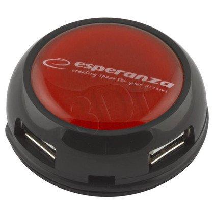 ESPERANZA HUB USB 2.0 4-PORTY YOYO CZERWONY EA135R
