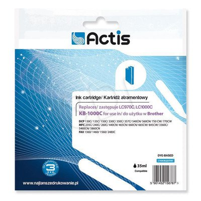 Actis KB-1000C tusz cyan do drukarki Brother (zamiennik Brother LC1000C) Standard