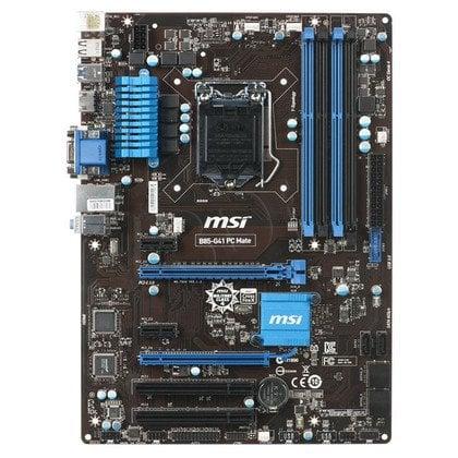 MSI B85-G41 PC Mate Intel B85 LGA 1150 (2xPCX/VGA/DZW/LAN/SATA3/USB3/DDR3/CROSSFIRE)