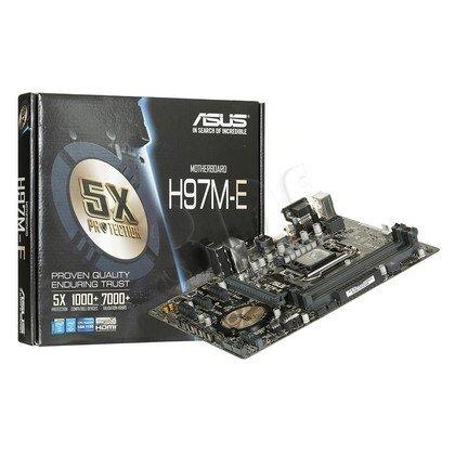 ASUS H97M-E H97 LGA1150 (PCX/DZW/GLAN/SATA3/USB3/RAID/DDR3) mATX