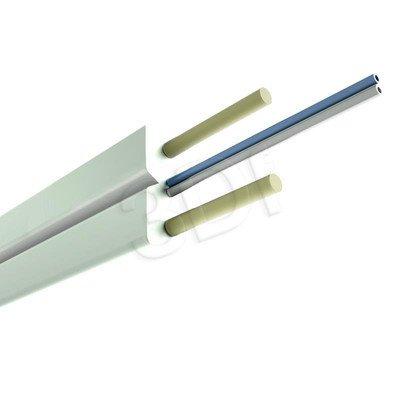 ALANTEC kabel światłowodowy LSOH 1000m FTTH płaski SM 2J 9/125 biały