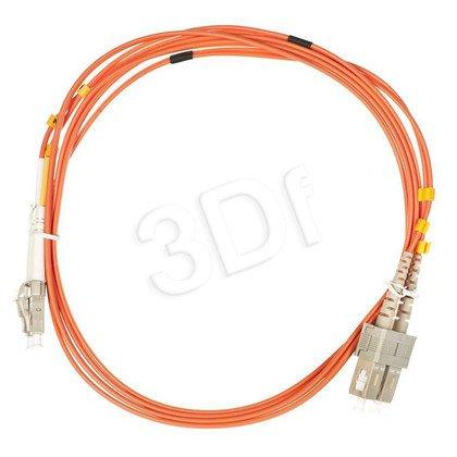 ALANTEC patchcord światłowodowy MM LSOH 2m LC-SC duplex 50/125 pomarańczowy