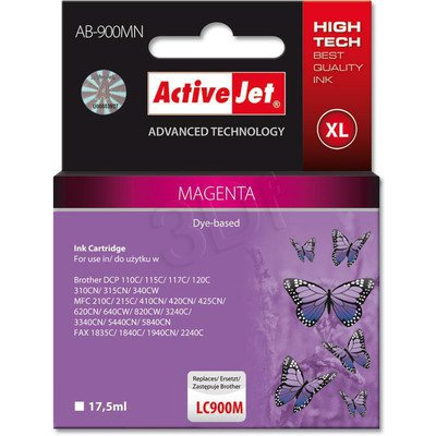 ActiveJet AB-900MN (AB-900M) tusz magenta do drukarki Brother (zamiennik LC900M)