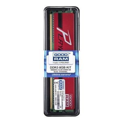 Goodram PLAY DDR3 DIMM 8GB 1866MT/s (2x4GB) Czerwony
