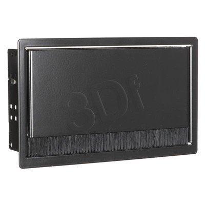 Bachmann 911.002 CONI - kaseta do wbudowania czarny krótka, wymiary zewnętrzne 248x151 mm, wymiary montażowe 237x139 mm