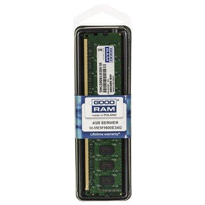 Goodram W-MEM1600E34G DDR3 DIMM 4GB 1600MT/s (1x4GB) ECC