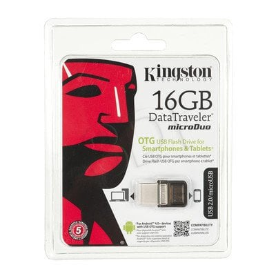 Kingston Flashdrive DataTraveler microDuo 16GB USB 2.0 Brązowy