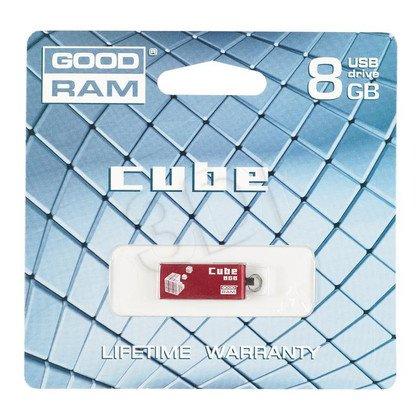 Goodram Flashdrive CUBE 8GB USB 2.0 Czerwony